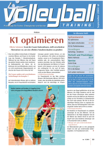K1 optimieren - Volleyball