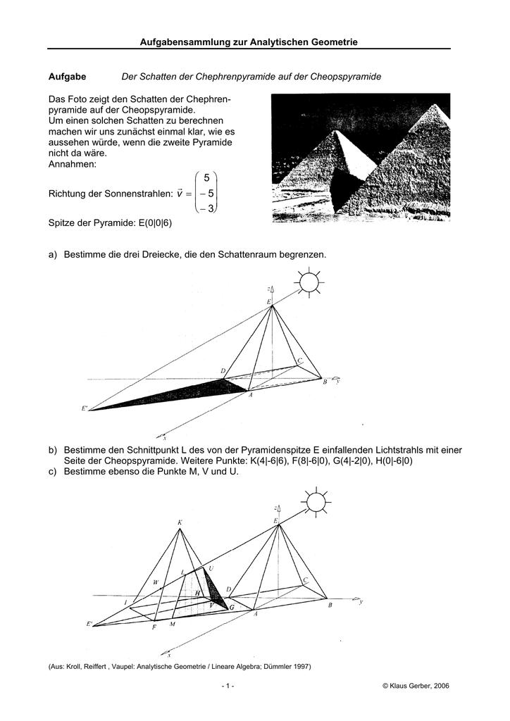 hohe pyramide berechnen vektor
