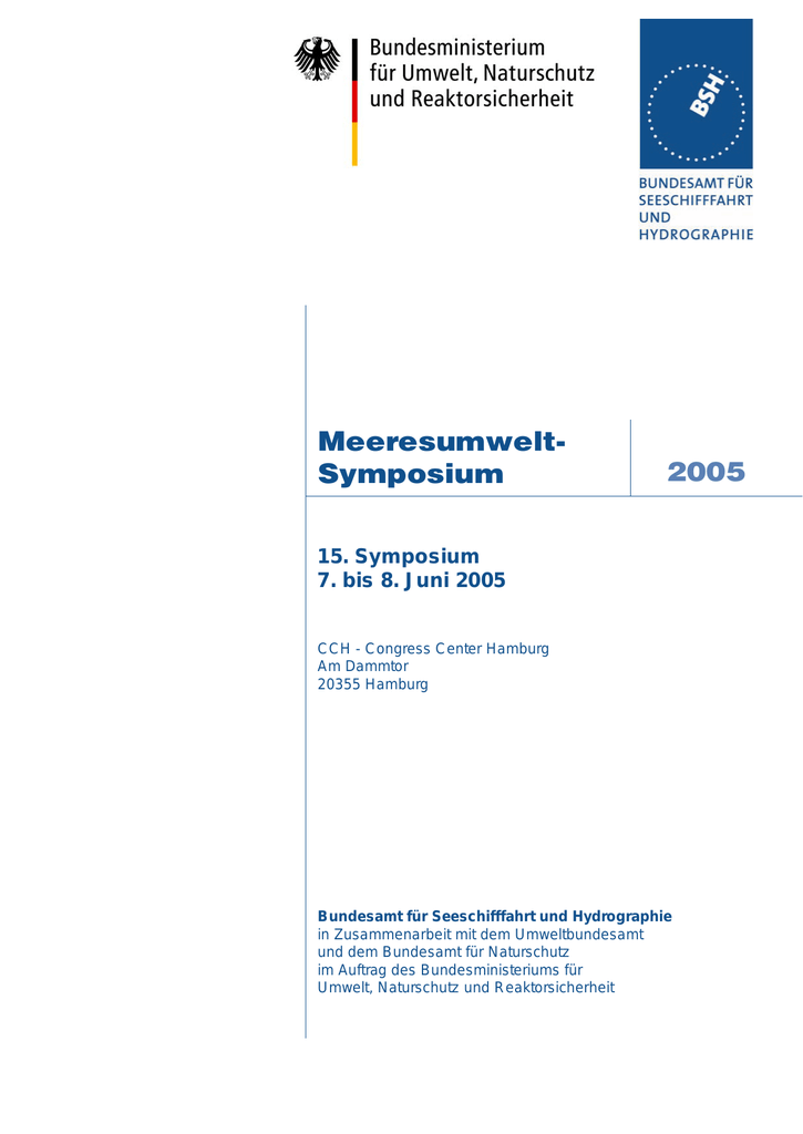 Vorträge Meeresumwelt Symposium 2005