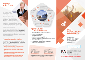 Flyer Studienrichtung Event- und Sportmanagement