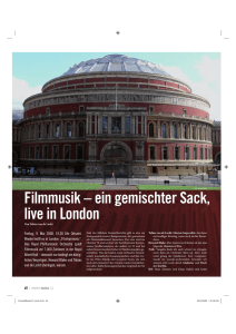 Filmmusikreport aus London
