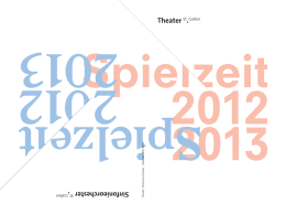 GP Theater 2012/13 - Theater St. Gallen