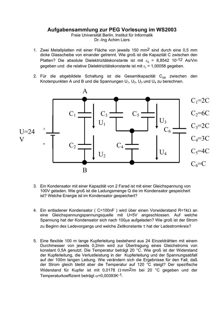 aufladen eines kondensators
