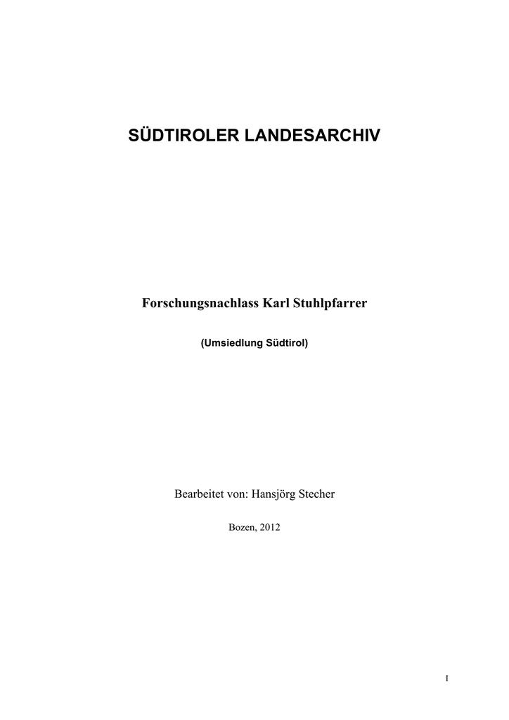 Findbuch [ 1603 KB] - Autonome Provinz Bozen