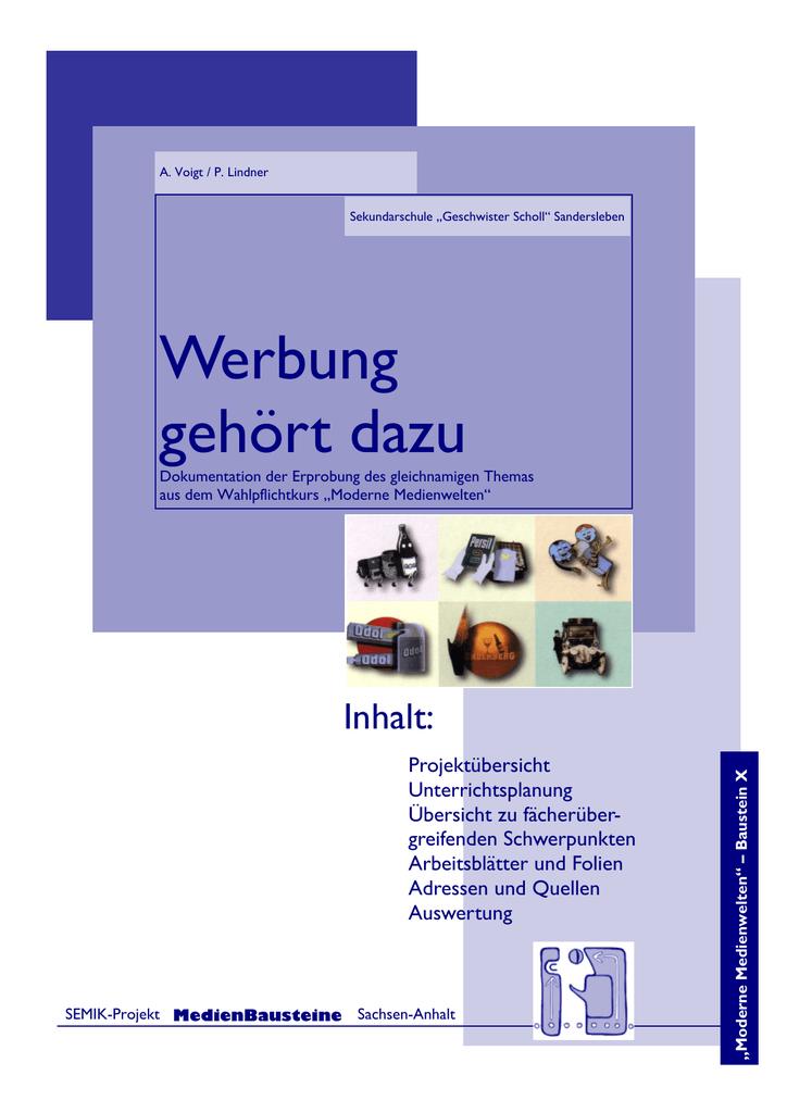 Werbung gehört dazu - Bildungsserver Sachsen