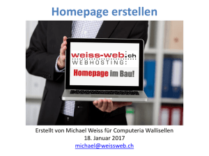Homepage designen - Computeria Wallisellen