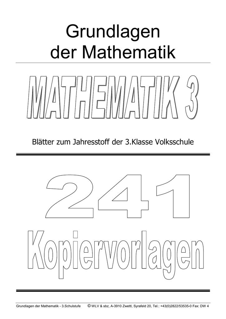 Groß Dritte Klasse Mathematik Fotos - Mathematik & Geometrie ...