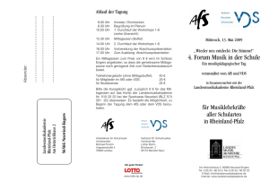 Flyer Forum Musik in der Schule 2009