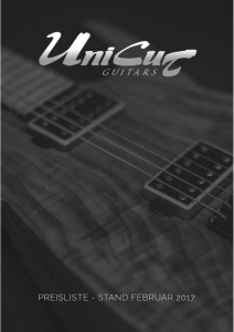 preisliste - UniCut Guitars