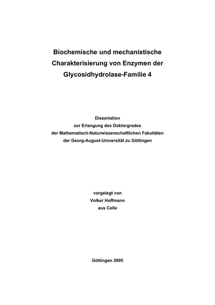 Biochemische und mechanistische Charakterisierung von Enzymen