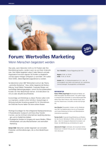 Forum: Wertvolles Marketing