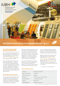IUBH – Bachelor Eventmanagement