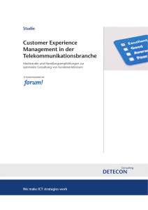 Customer Experience Management in der