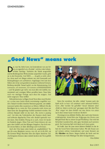 """Good News"" means work - Aktuelles vom Good News Chor"