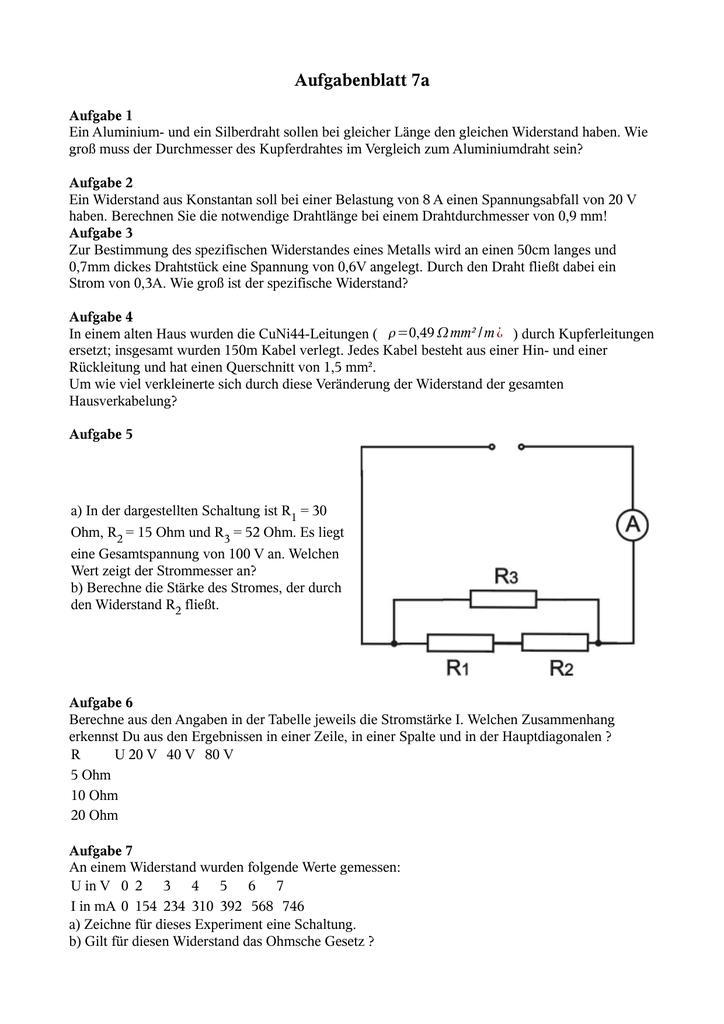 Aufgabenblatt 7a