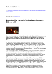 20161109 Projekt Safe Light ulm news