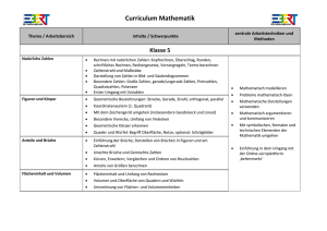 Curriculum Mathematik - Friedrich-Ebert