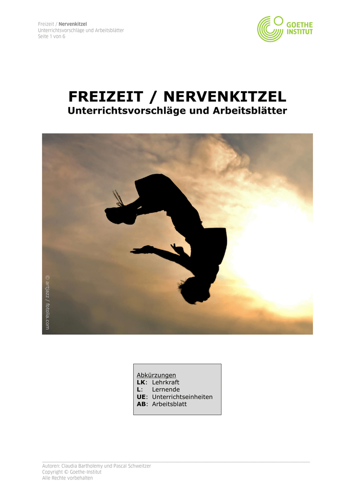 freizeit / nervenkitzel - Goethe