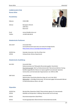 Biographie - Universität Wien
