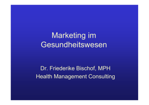 Voraussetzungen - Health Management Consulting