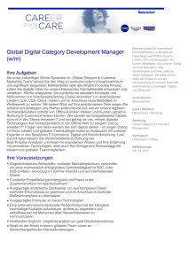 Global Digital Category Development Manager (w/m)