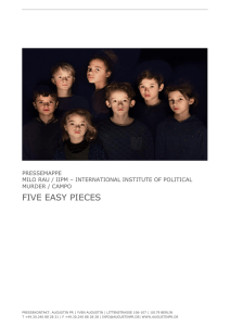 five easy pieces - International Institute of Political Murder