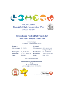 Kinderkurse Rock`n`Roll Floridsdorf SPORTUNION Rock`n`Roll Club
