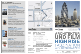 Architektur und Film-Flyer