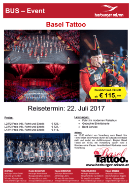 Basel Tattoo - Herburger Reisen