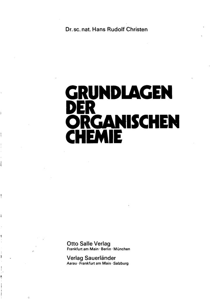 Grundlagen Organischem Chemie