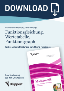 Funktionsgleichung, Wertetabelle, Funktionsgraph
