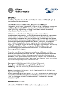 speak! - Kölner Philharmonie