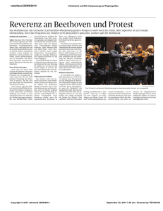 Reverenz an Beethoven und Protest