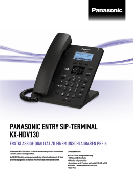 Panasonic ENTRY SIP-Terminal