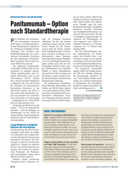 Panitumumab – Option nach Standardtherapie