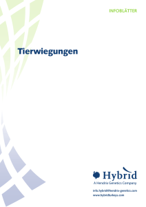 Tierwiegungen - Hybrid Turkeys Resources