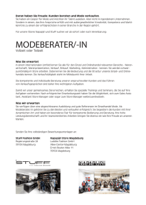 MODEBERATER/-IN - STUFF Fashion Shop