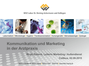 Kommunikation und Marketing in der Arztpraxis