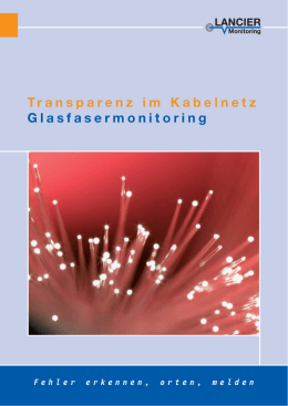 Glasfaser-Monitoring - LANCIER Monitoring GmbH
