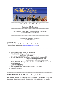 "Der ""Positiv Altern"" Rundbrief September"