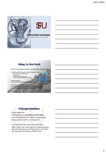 Differentielle Psychologie Teil 1_Handout_WS 15_16