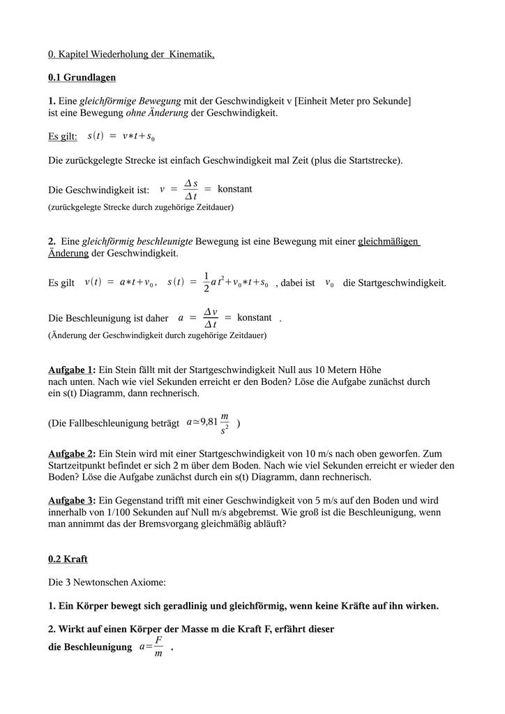 Script - Physik Jgst 9