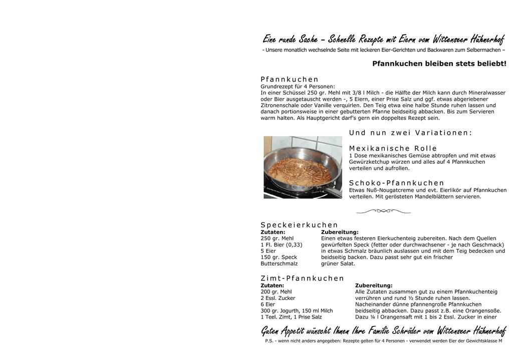 Rezepte 4 2010 Pfannkuchen Bleiben Stets Beliebt 3