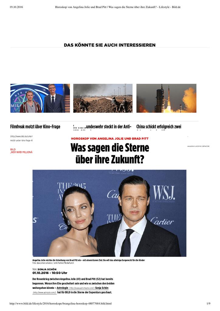 Jolie sternzeichen angelina brad pitt Brad Pitt