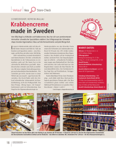 Krabbencreme made in Sweden