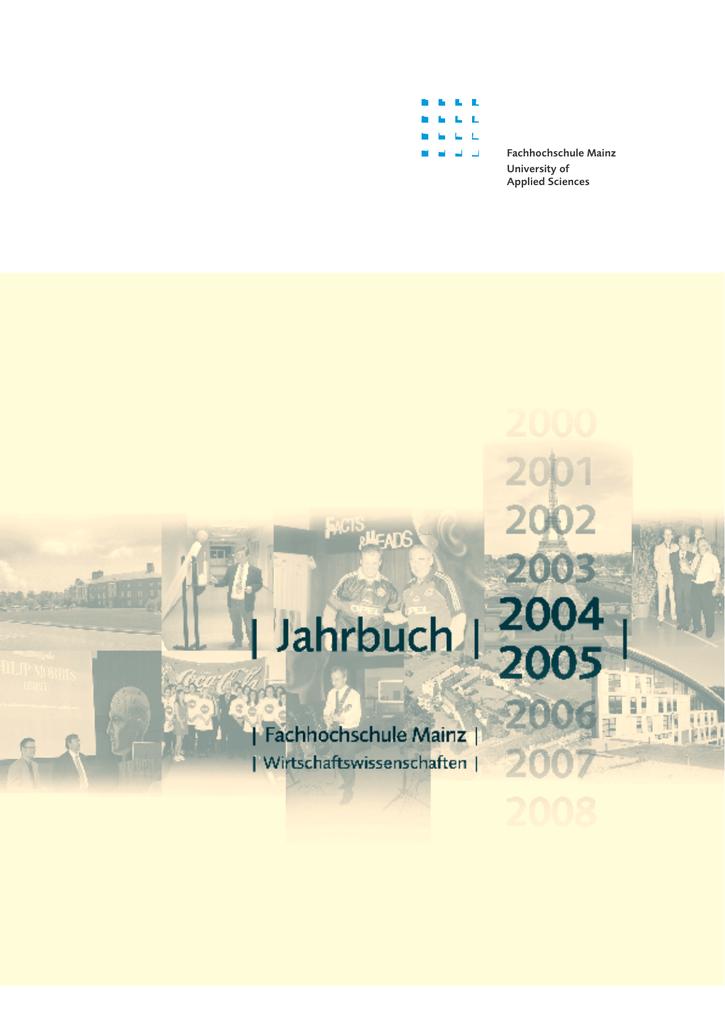 Ausgabe Jahr 2004 - Hochschule Mainz