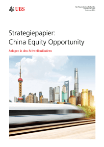 Strategiepapier: China Equity Opportunity