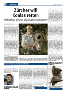 Zürcher will Koalas retten