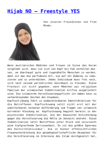 Hijab NO – Freestyle YES,Weibliche