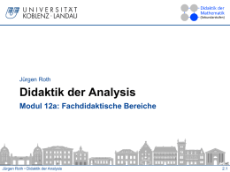 Didaktik der Analysis